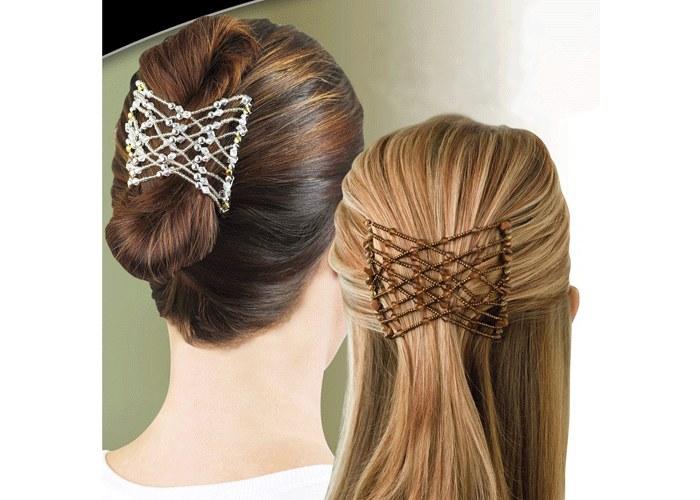 стильные прически с помощью заколки для волос изи коум